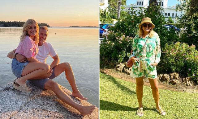 Pernilla Wahlgren om tankarna kring att flytta ihop med Christian Bauer – och varför hon inte känner ett behov av det
