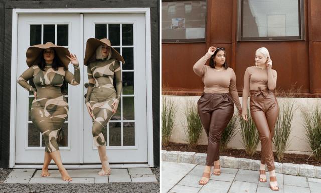 Vännerna hyllas – visar att kläderna är lika fina oavsett kroppsform