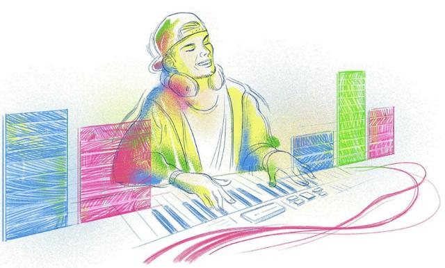 Google hedrar Avicii i samband med hans födelsedag – med en specialframtagen Doodle