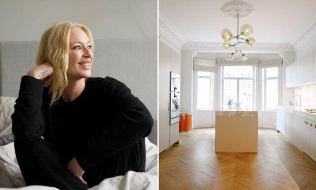 Kika in i Isabel Adrian och Steve Angellos nya lägenhet i Stockholm