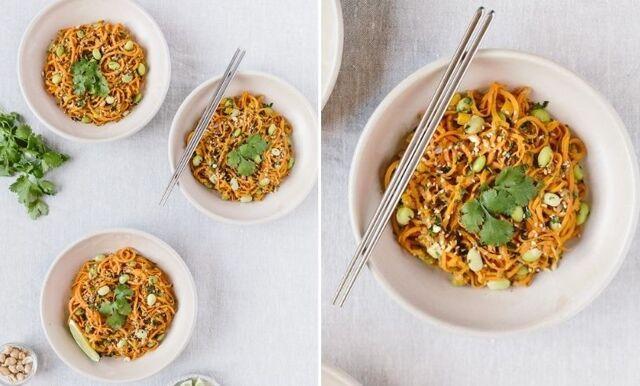 Vegetarisk Pad Thai med sötpotatis – ett måste i veckans matlådor