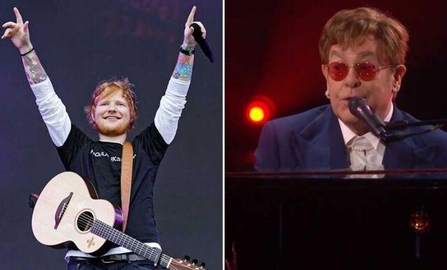 Elton John och Ed Sheeran gör julmusik tillsammans