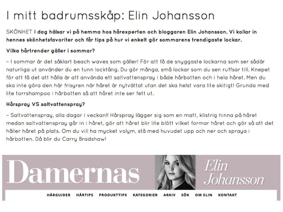 Hårguider Elin Johansson Metro Mode Sida 19