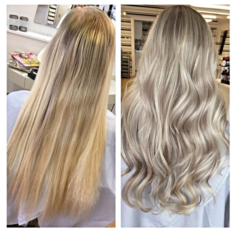 toning blont hår