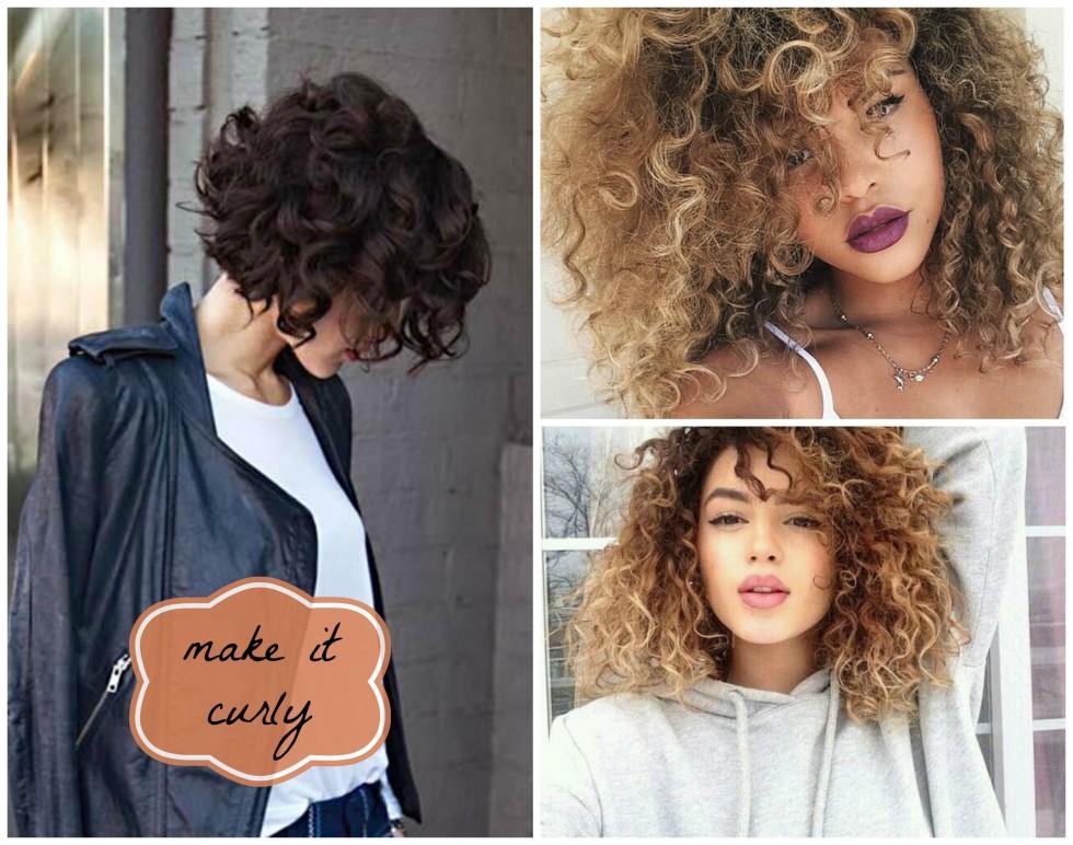 styling för lockigt hår