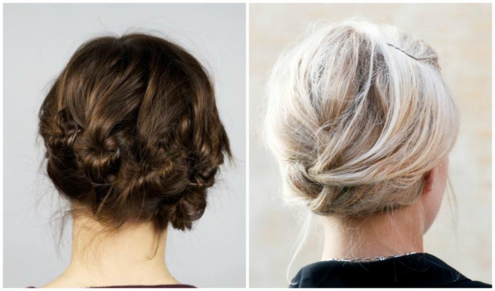 halvlångt hår uppsättning