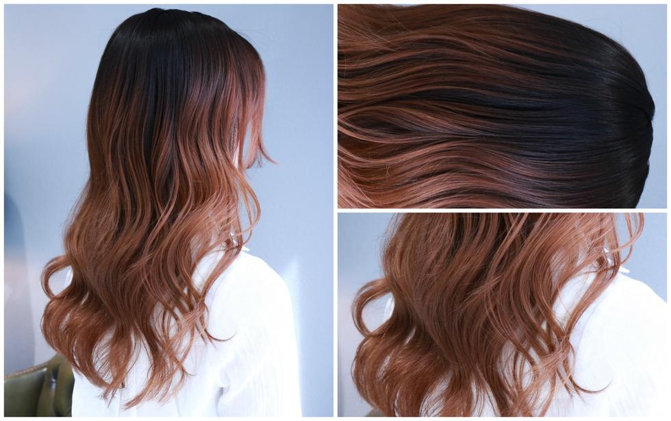 rosegold haircolor