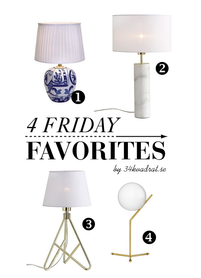 4 favs table lamps