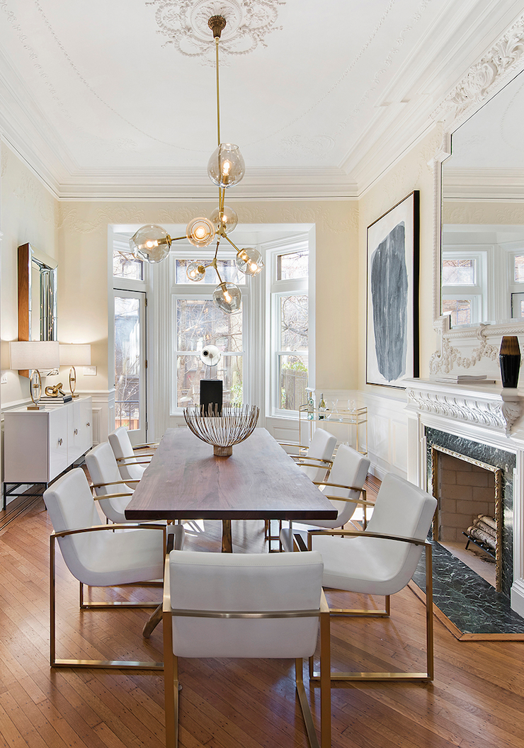 glamorous-dining-room-Brooklyn-Townhouse