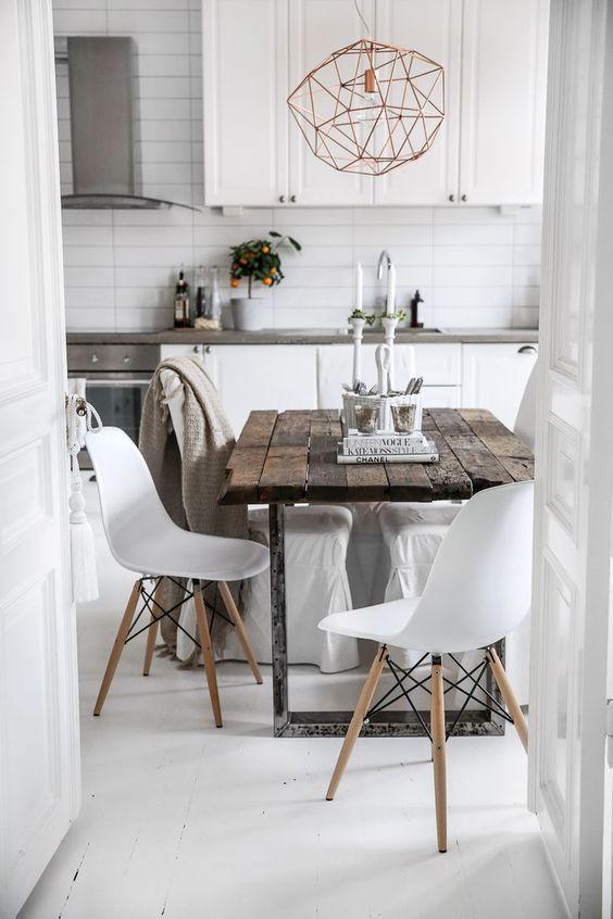 10 inspirerande bilder och idéer på rustikt matbord