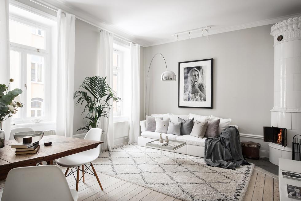 Vackert Vardagsrum Fixa Stilen 34 Kvadrat Metro Mode