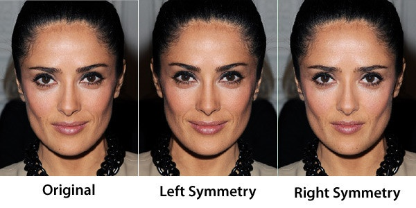 symmetriskt ansikte test