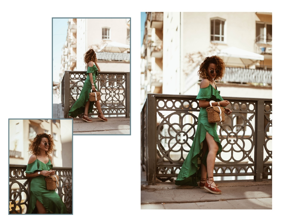 sara-che-green-frilly-nelly-dress