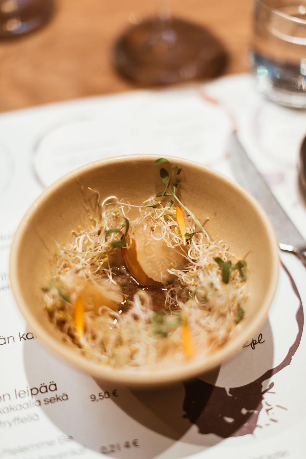 sara-che-finnair-for-foodies-helsinki-resturaunt-fine-dining-nude-starter