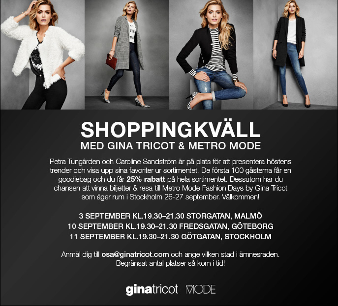 Metro Mode & Gina Tricot shoppingkväll[1]