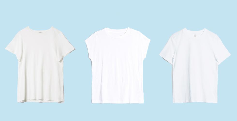 Klassisk vit t-shirt