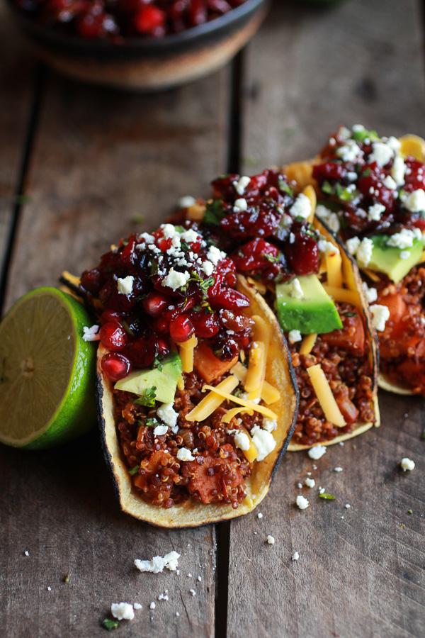 Chipotle-Quinoa-Sweet-Potato-Tacos-with-Roasted-Cranberry-Pomegranate-Salsa-7