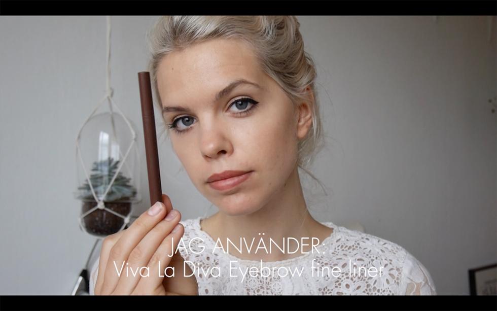 Ögonbrynstutorial Flora Viva La Diva Eyebrow fine liner