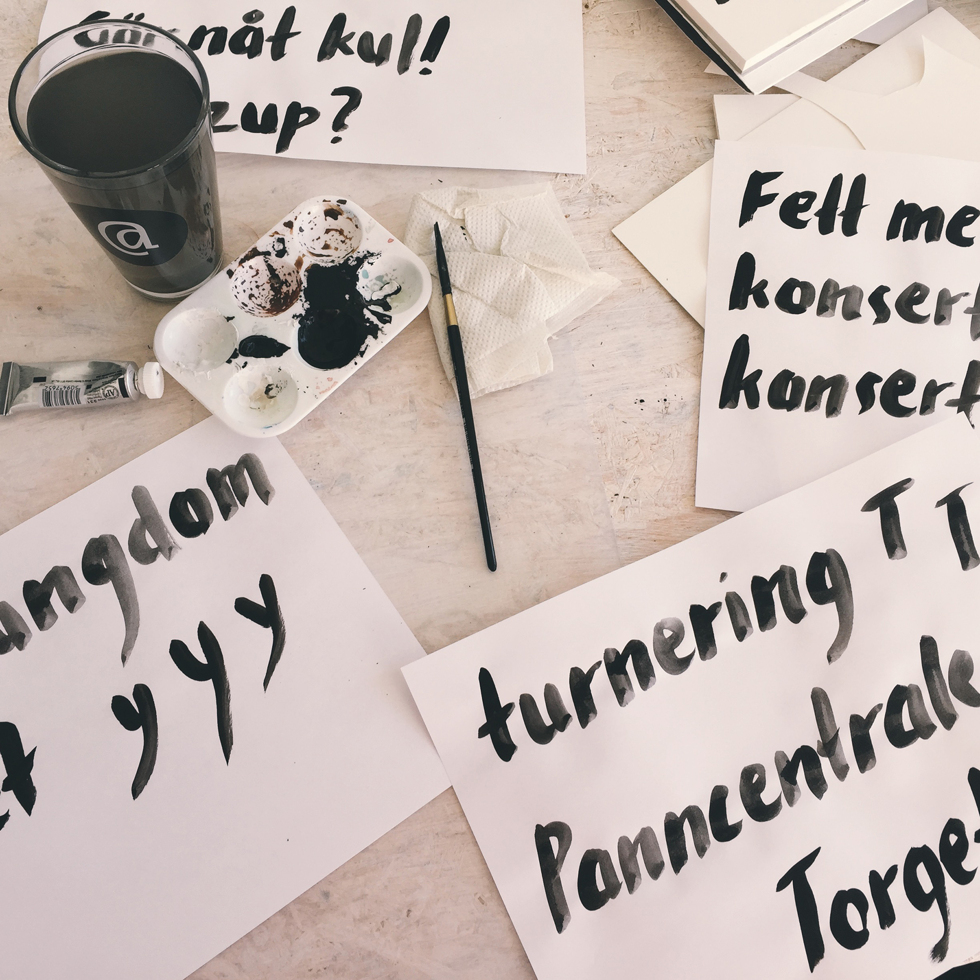 Handwritten typography, Flora Wiström