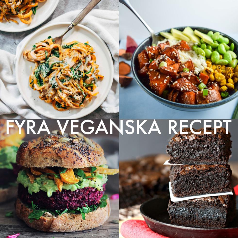 fyra veganska recept - flora.metromode.se
