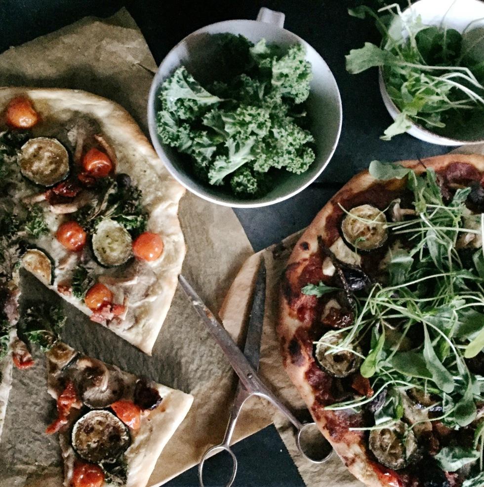 Vegansk pizza med kronärtskockskräm, Flora Wiström, florasblogg.se, @florawis