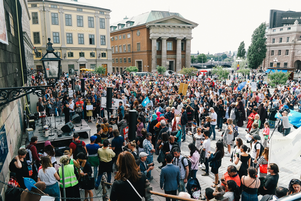 demonstration folkkampanj för asylrätt-24