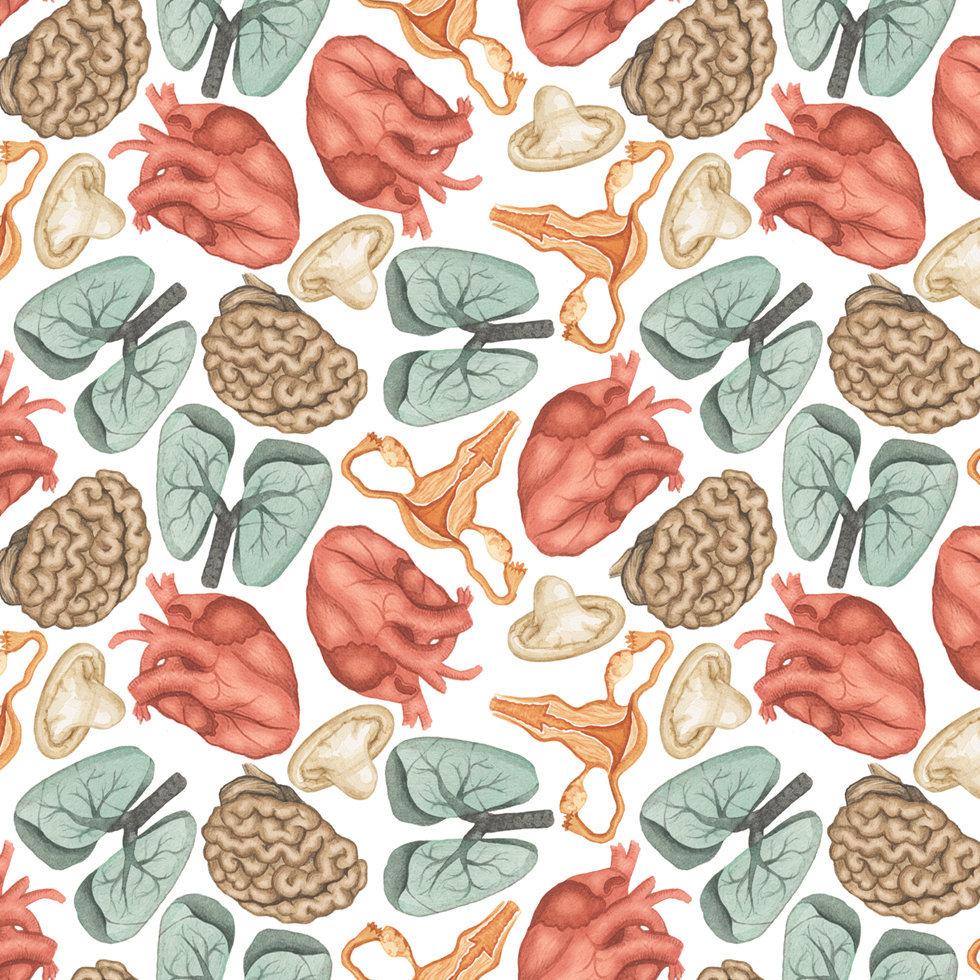 pattern by flora wiström, @florawis