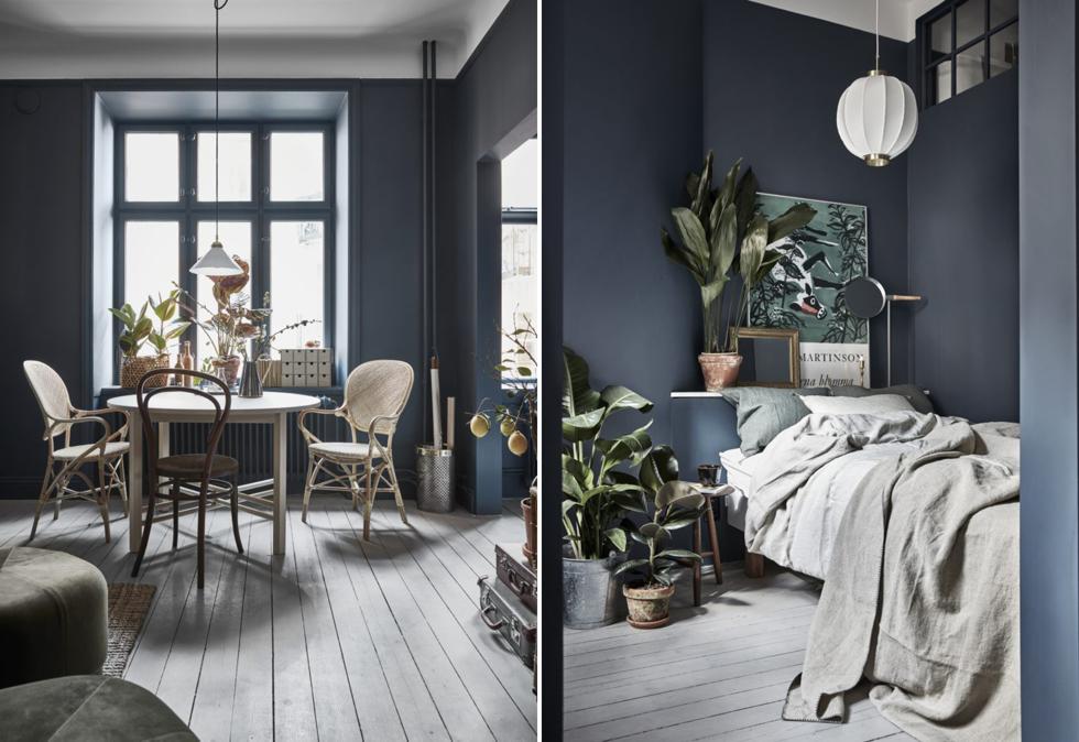 blå väggar