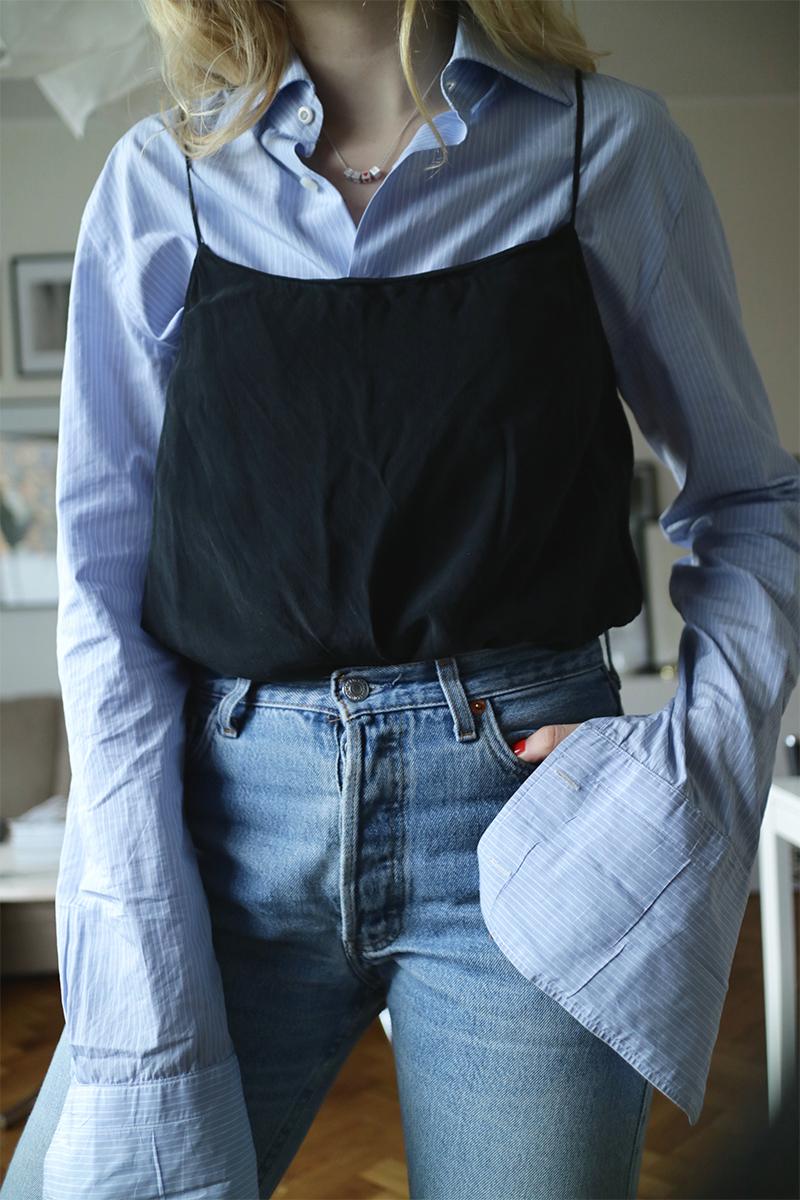 Skjorta med manschett