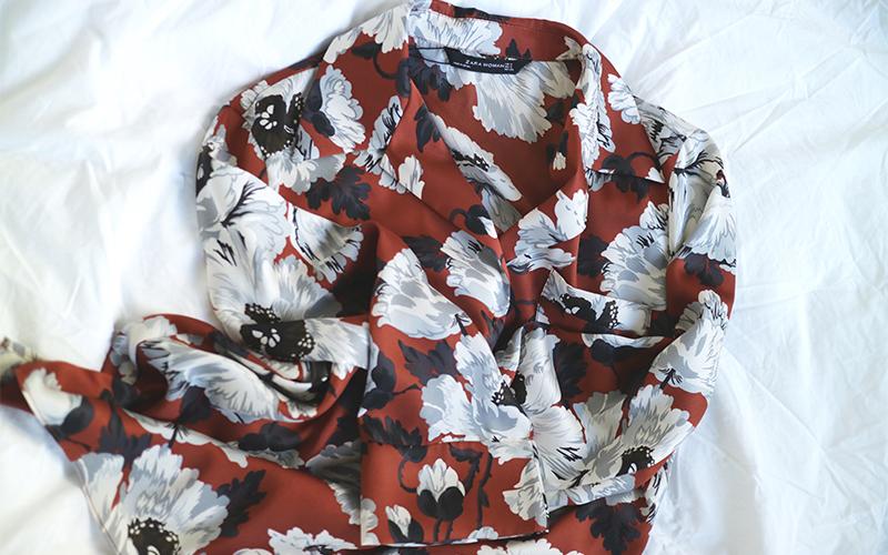 Zara pajama shirt