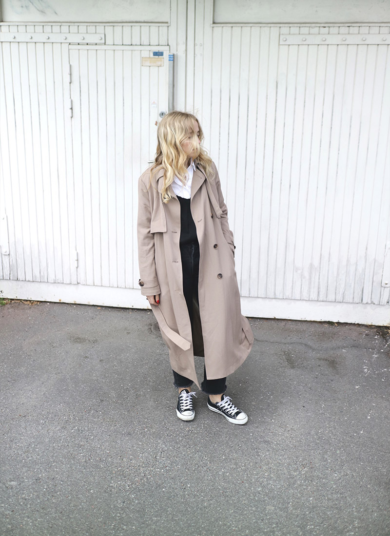 Fanny Ekstrand outfit trenchcoat
