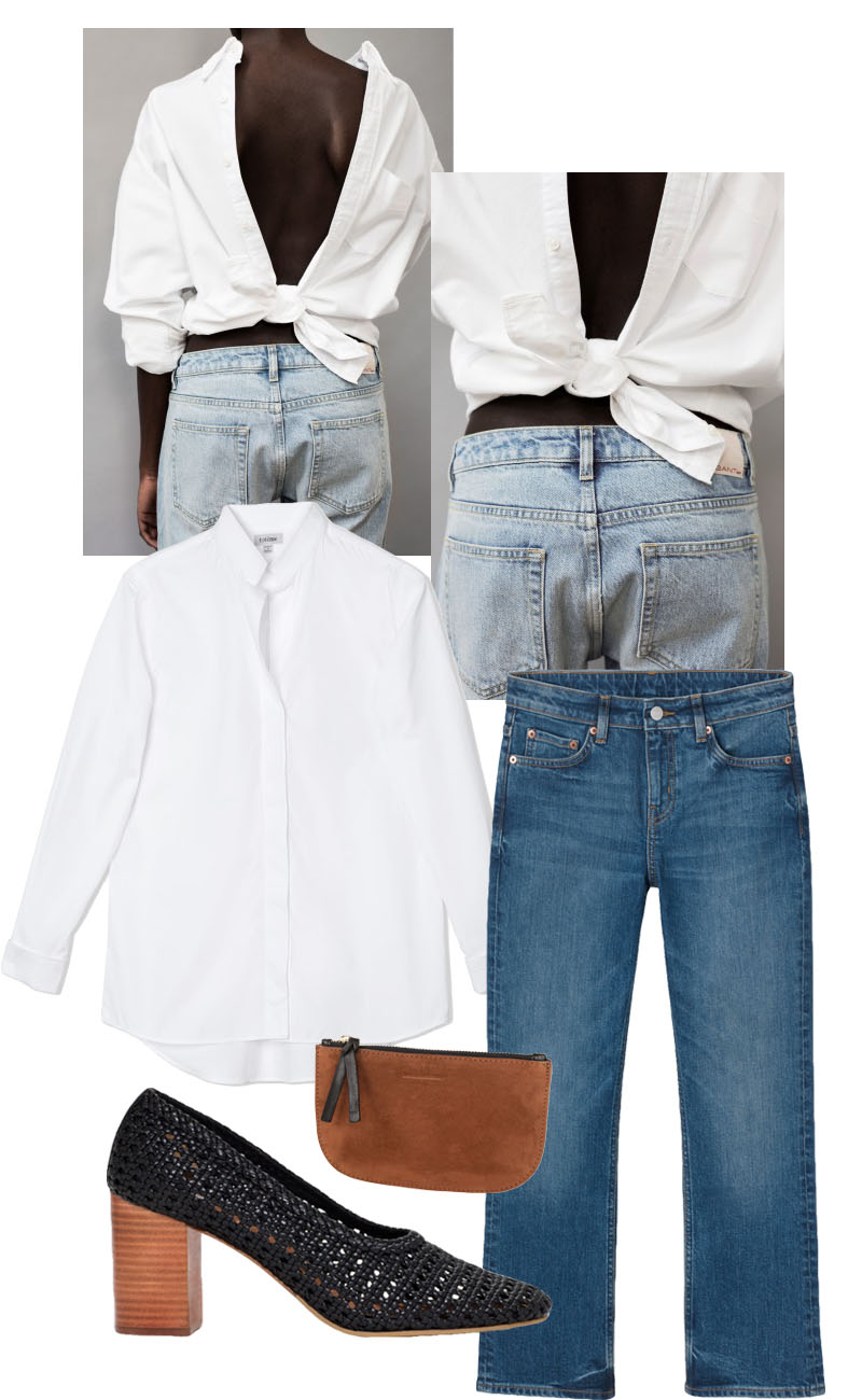 The white shirt styling