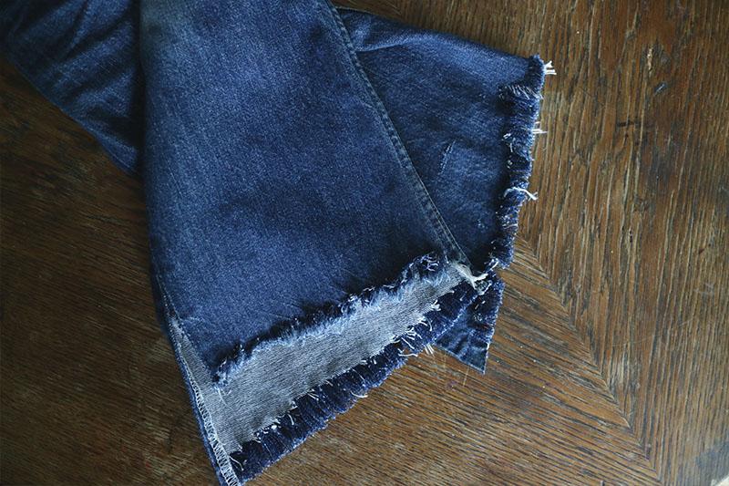 DIY Fransade jeans