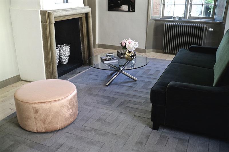 Layered mattor och möbler