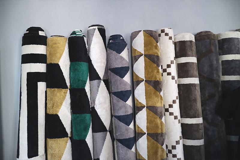 Layered mönstrande mattor