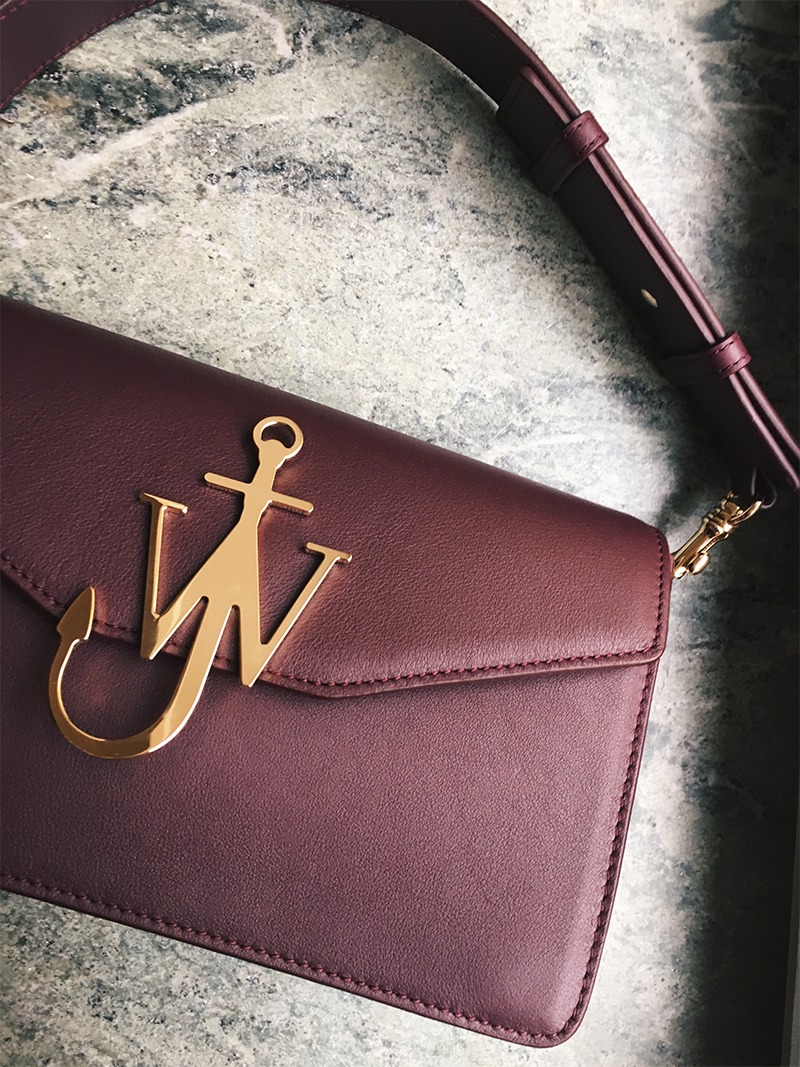 JW Anderson Monogram Bag Wine