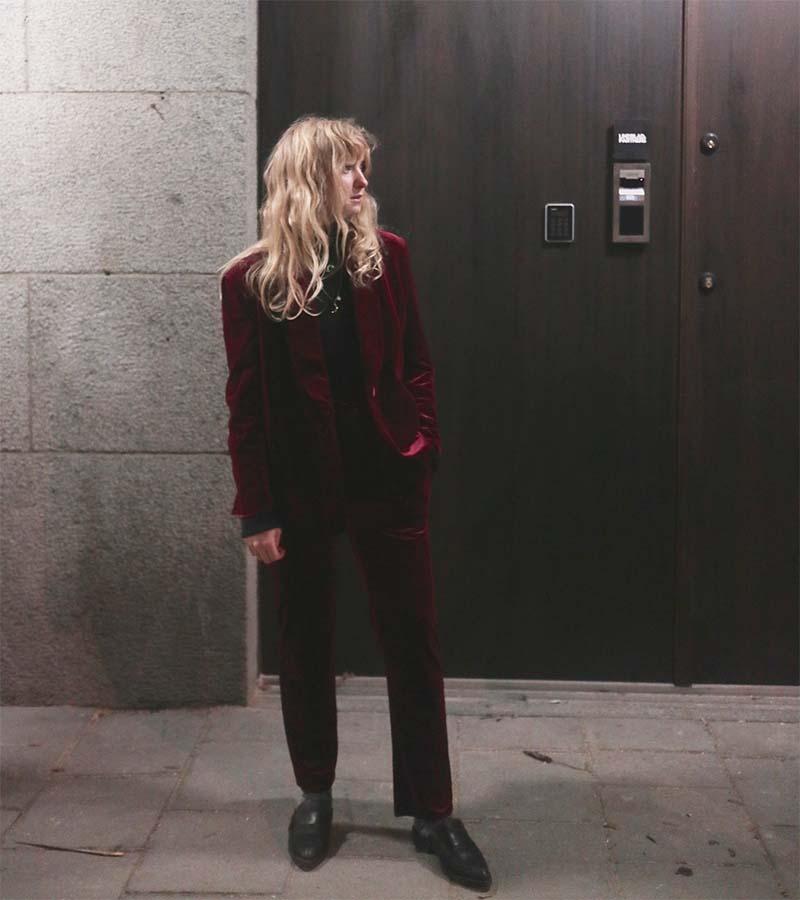 daisy grace velver suit