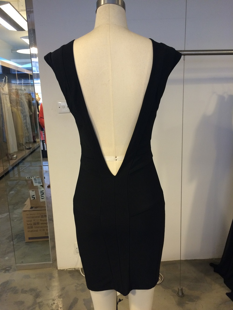 Deep V Back Sleeveless Dress - 2nd fit sample  4