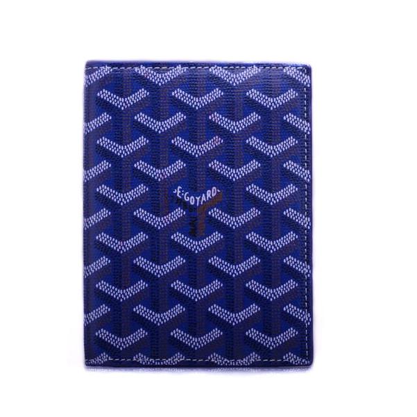 Femmes-Goyard-Bleu-Porte-passeport-Portefeuilles