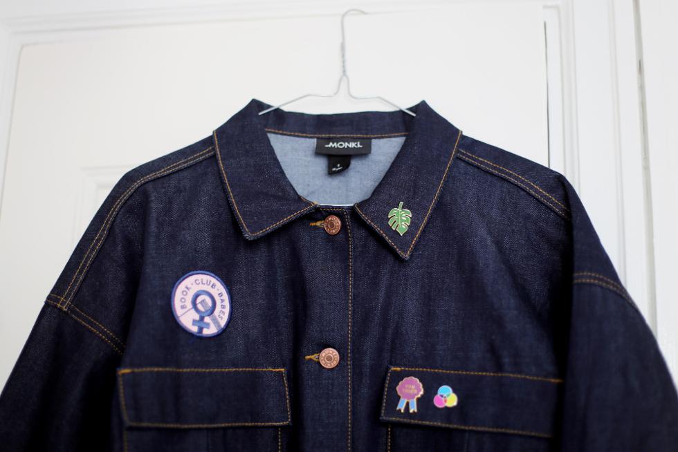 strössel på min jacka