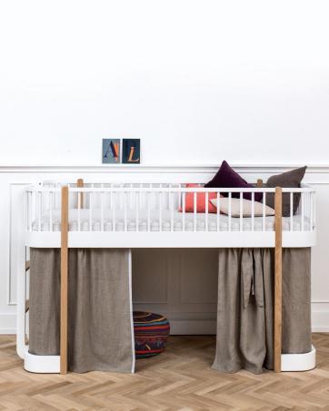 Wood Loft Bed Low