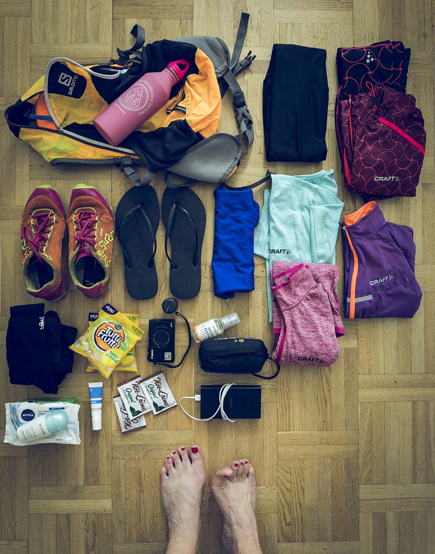 packning springa i fjällen