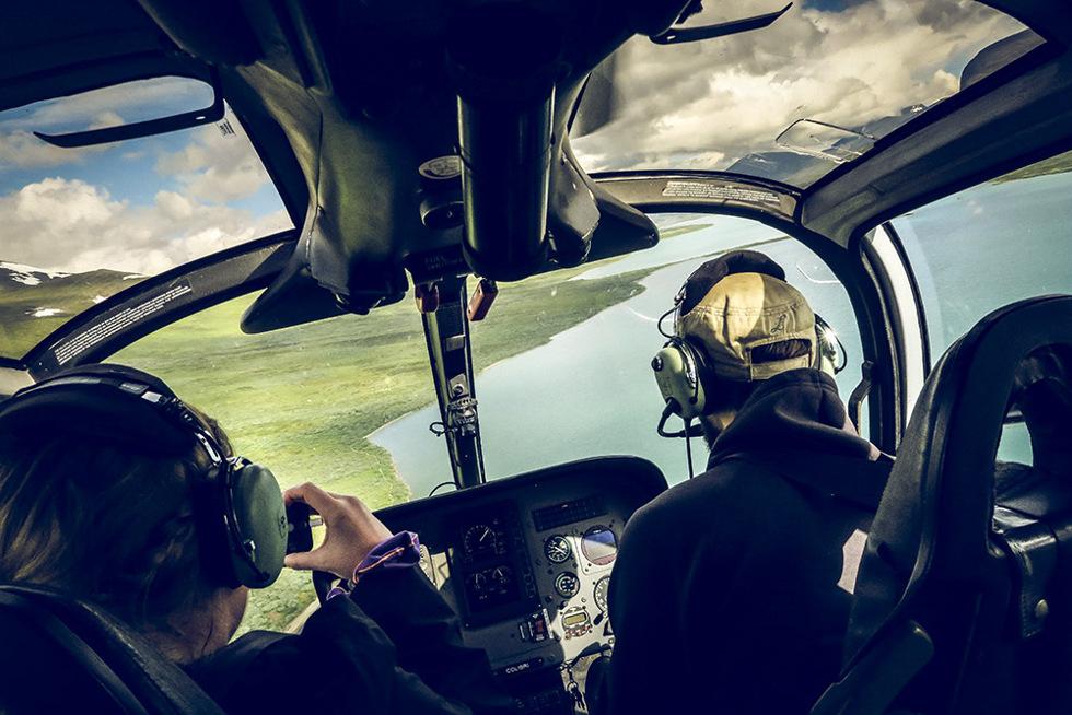 kallax flyg helikopter abisko