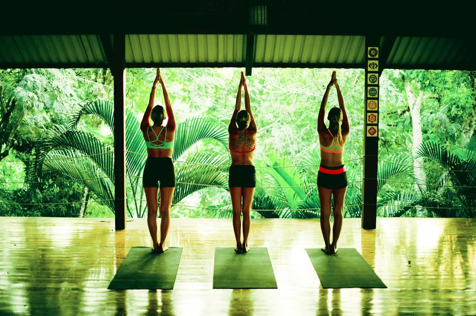 Yoga med bloggerskor!