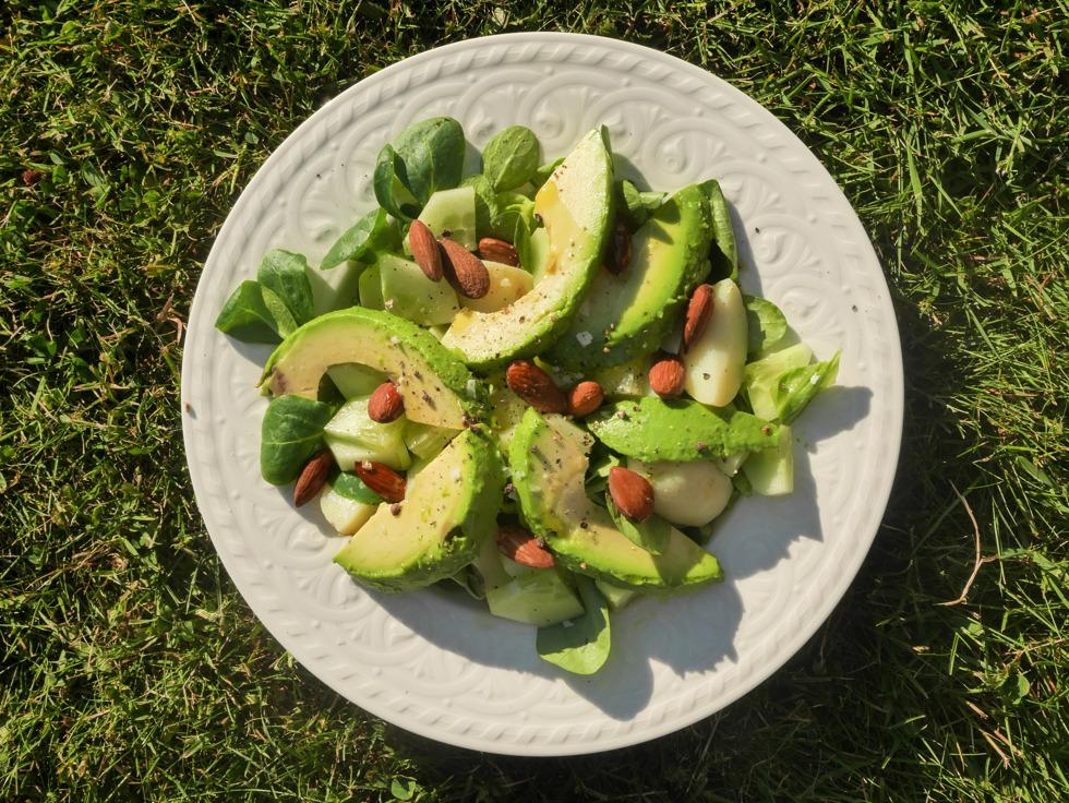 Vegetarisk sommarsallad med hummus-1