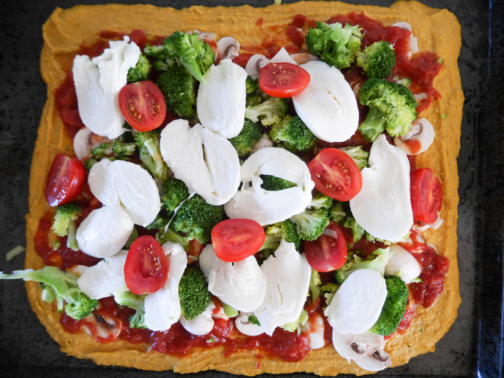 Glutenfri vegetarisk Pizza-4