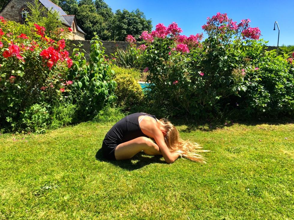 Yin yoga fjärilen