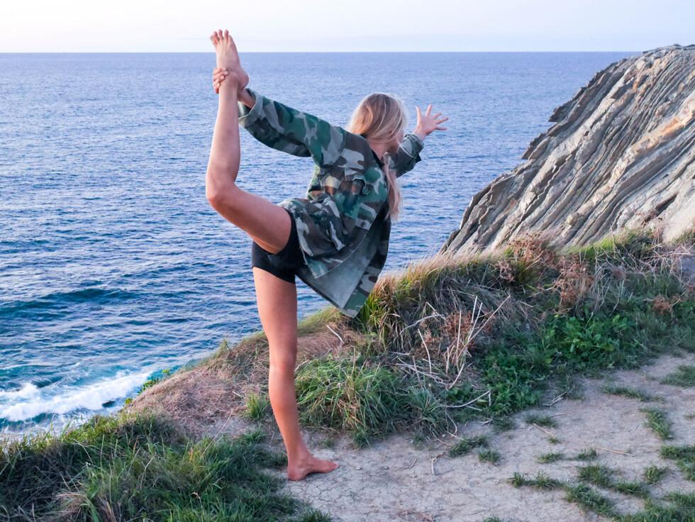 förfina balansen med dansaren