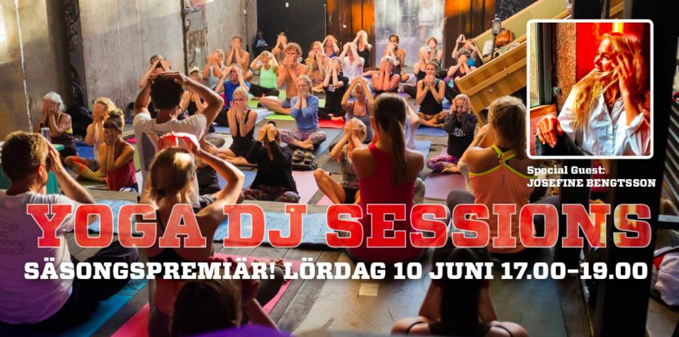 dj yoga sessions trädgården