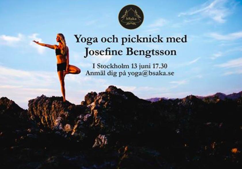 yoga och picknick